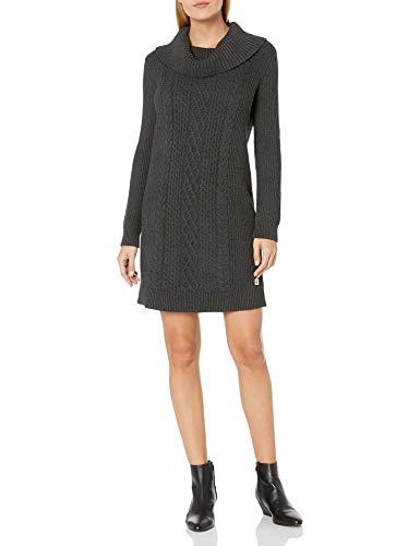 Tommy Hilfiger Women's Sweater Dress, Charcoal, Medium