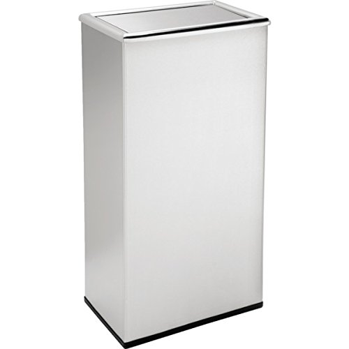 532032 13.5 Gallon Stainless Steal Rectangular Trash Can