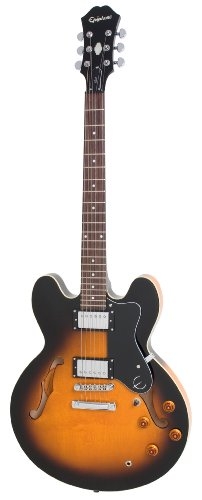 Epiphone DOT ES Style Semi-Hollowbody Electric Guitar, Vintage Sunburst (Semi Epiphone Dot)