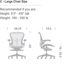 Herman Miller Aeron Chair, Size C, Graphite by Herman Miller (Image #6)