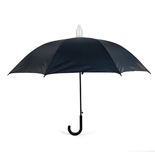 Black Canopy Umbrella with Plastic Cover with Auto - Sleeves Canopy