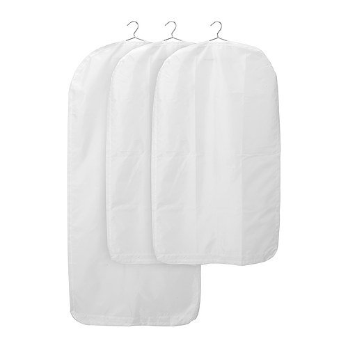 Ikea Skubb White Clothes Covers (With Zipper) Heavy Duty 3-pack