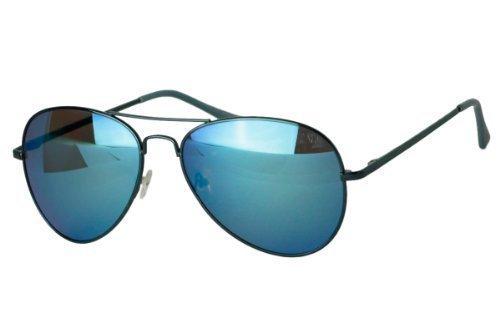 Sense42 verspiegelte Pilotenbrille Grün Fliegerbrille Sonnenbrille Aviator Brille in verschiedenen Faben mit flexiblen Federscharnier Bügel im Brillenbeutel qgHF3KvjnZ
