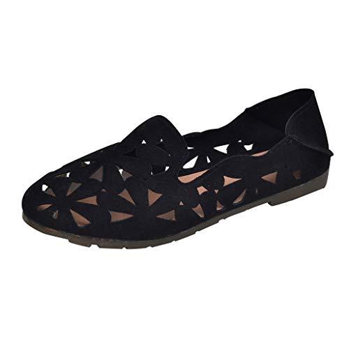 Respctful✿Loafer Flats Women Low Heel Point Toe Slip-On Shoes Ladies Casual Ballet Comfort Walking Classic ()