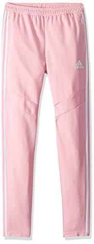 adidas Youth Soccer Tiro Training Pants, True Pink/White, Small