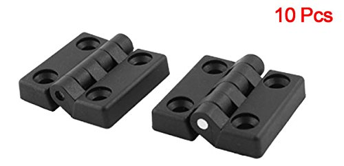 50/mm x 47/mm Armoire porte de placard Butt Charni/ère /à roulement /à billes Lot de 10/Noir