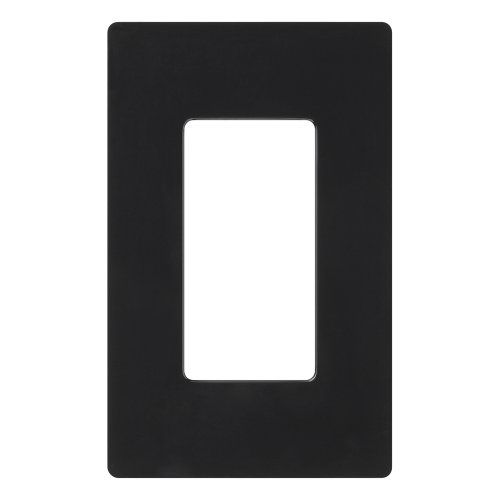 Lutron CW-1-BL Claro 1-Gang Wallplate, Black (Bl Switch Box)