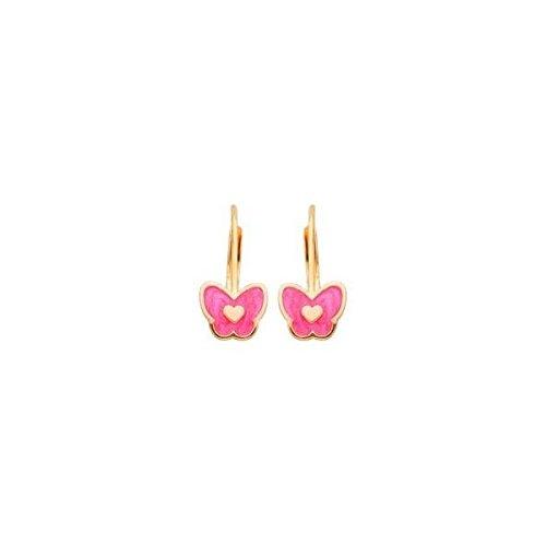DIAMANTLY Boucles d'oreilles or 750 brisure papillon enfant