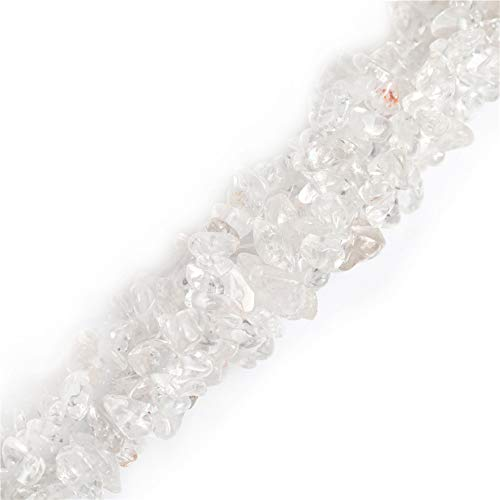 6-8mm Rock Crystal Quartz Gravel Gemstone Chips Beads for Jewelry Making Loose Beads 34