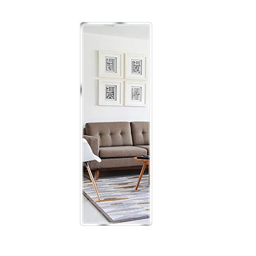 Beauty4U Full Length Tall Mirror Tiles - Frameless Wall Mirror HD Vanity -