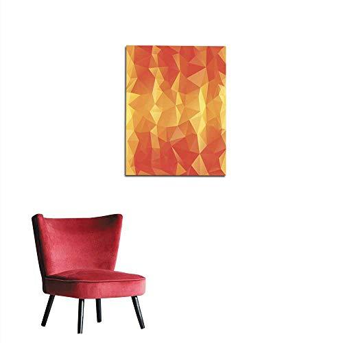 longbuyer Wallpaper Striped Orange Polygonal Triangular Pattern Background Mural -
