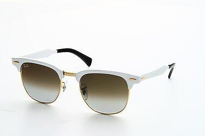Ray-Ban Clubmaster Aluminum Sunglasses (RB3507) Silver/Green Metal,Aluminum - Non-Polarized - - Silver Aluminum Ray Clubmaster Ban