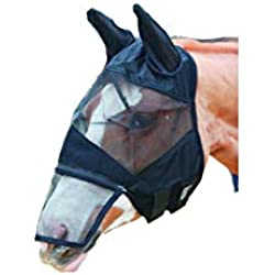 Shires Equestrian Full Face Detachable Nose Fly Mask Size Pony