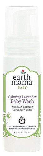 Earth Mama Calming Lavender Baby Wash Gentle Castile Soap for Sensitive Skin, 5.3-Fluid Ounce