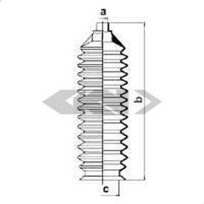 Lenkung Spidan 83878 Faltenbalg