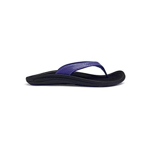 Olukai Kulapa Kai Slipper - Vrouwen Diep Violet / Zwart