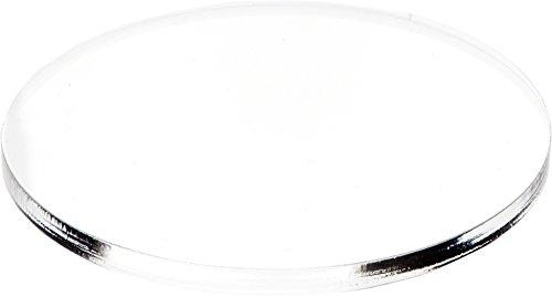 Plymor Brand Clear Acrylic Round Standard-Edge Display Base.25