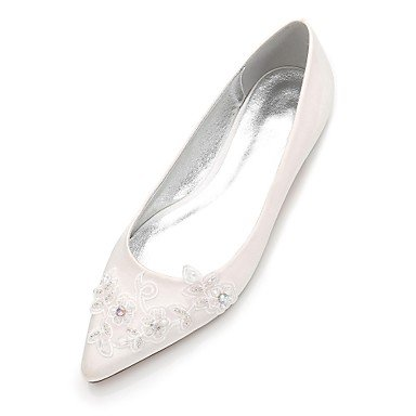 Evening Party 5 Satin Heelivory Maryd'Orsay CN35 Shoes Spring Flat Wedding Piece amp;Amp; Rhinestone Women'S Wedding amp;Amp; RTRY US5 UK3 5 Dress Comfort Two EU36 Summer 8x76pRn