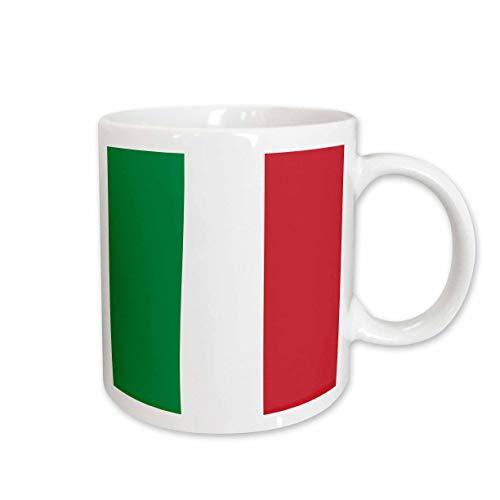 3dRose mug_158341_1 Flag of Italy Square Italian Green White Red Vertical Stripes European Europe World Travel Souvenir Ceramic Mug, 11-Ounce