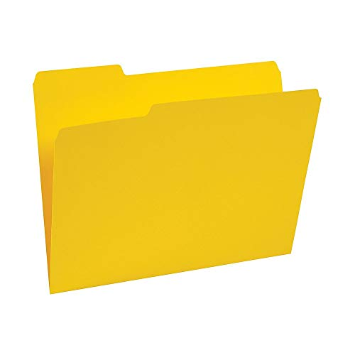 (Staples 224535 Colored Top-Tab File Folders 3 Tab Yellow Letter Size 100/Pack)