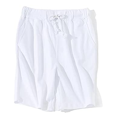 Cheap ouxiuli Men Fashion Casual Solid Color Elastic Waist Shorts for cheap