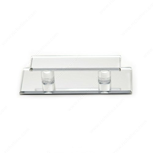 Richelieu Expression Contemporary Acrylic Pull for Glass Doors 5'' -D010201- Clear