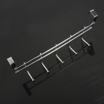 Souked Stainless Steel Bathroom Kitchen Wall Hook Rack Clothes Hanger by Pakhuis