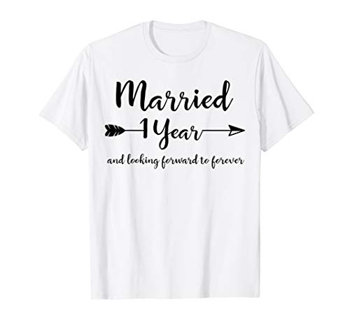 First Wedding Anniversary Gifts for Him Her Couples T-Shirt
