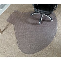 Realspace(R) L-Shaped Workstation Chair Mat, 66in.W x 60in.D, Clear