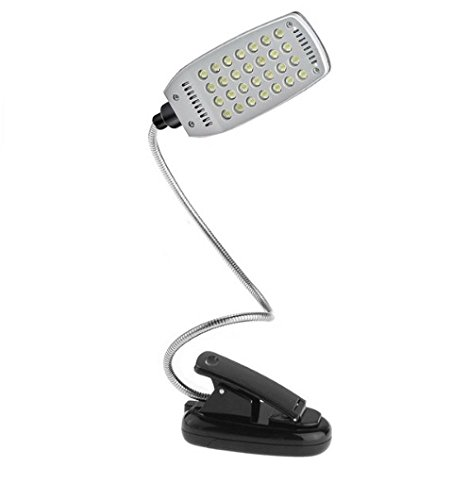 Battery USB Power Flexible 28 LED Clip-on book Light Desk...
