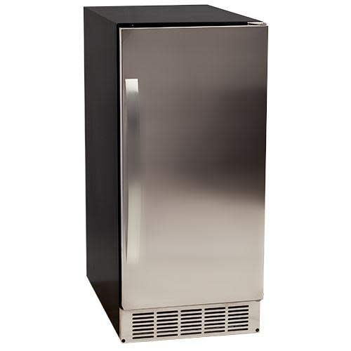 EdgeStar IB450SSP 50 lb. 15 Inch Wide Undercounter Clear Ice Maker with Drain ()