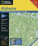 National Geographic TOPO! Alabama Map CD-ROM (Windows)
