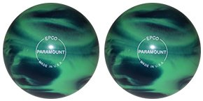 EPCO-Duckpin-Bowling-Ball-Marbleized-Sea-Green-Blue-2-Balls