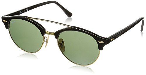 RB Double Noir Ray Black Bridge Clubround 4346 Sonnenbrille Green Ban tZwxxq6SX