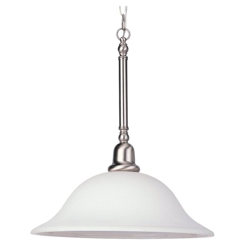 Sea Gull Lighting 66060-962 Sussex One-Light Pendant, Brushed Nickel Finish with Satin White Glass
