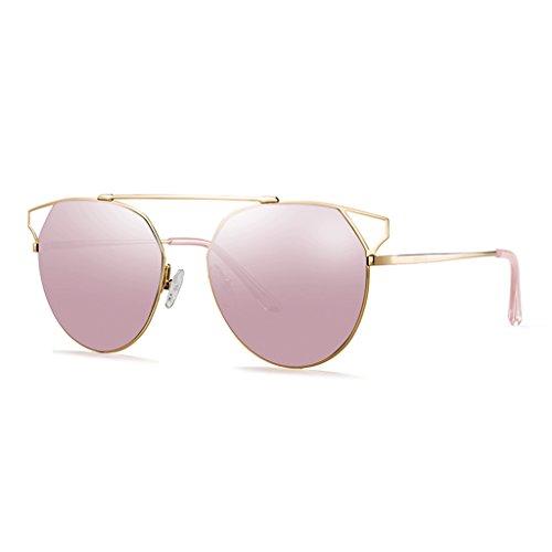 soleil Lunettes de faisceau dames personnalité Pink double PwAq45fw