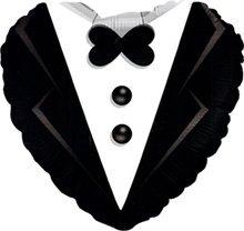 Caseta de globo aerostático/de boda/Globo Aire de novio en frac en blanco