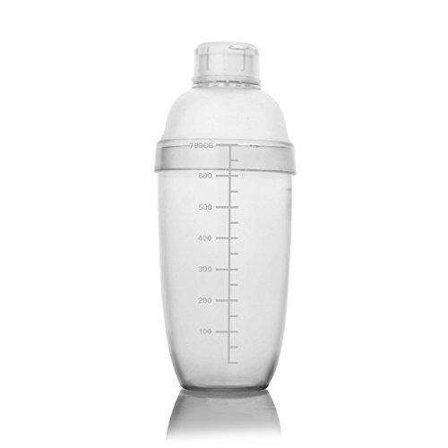 Homestia Modern Plastic 3-Piece Cocktail Shaker Mixing GlassLeak Free Non Slip Surface, 24oz