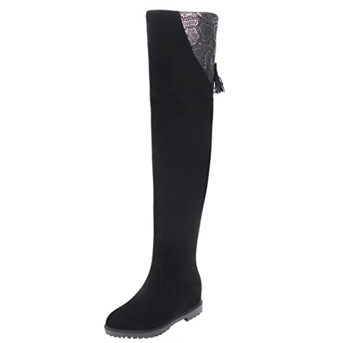 AIYOUMEI Women's Classic Boot Black 1iPrNK9lJ