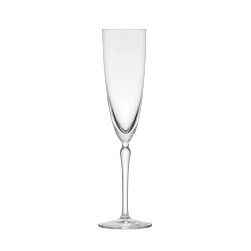 Schott Zwiesel Tritan Crystal Glass Audrey Stemware Champagne Flute with Effervescence Points, 7-Ounce, Set of 6