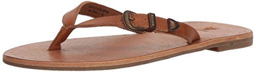 Frye Leather Thongs - FRYE Women's Ally Western Flip-Flop, Brown, 6.5 M US