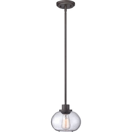 - Quoizel TRG1508OZ Trilogy Farmhouse Mini Pendant Lighting, 1-Light, 100 Watts, Old Bronze (8