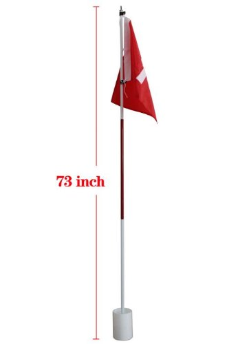 Craftsman Golf Hole Pole Cup Flag Stick Flagstick Base Set Backyard Practice
