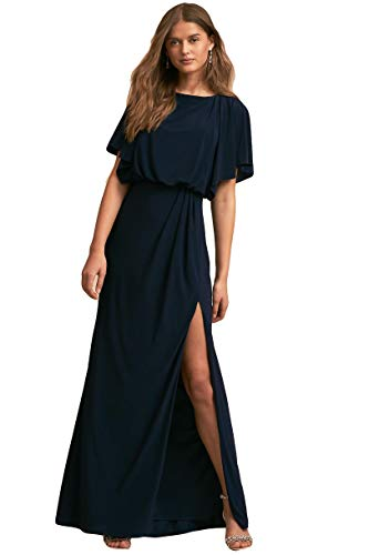 1f8c238e4114 ... Sleeve Evening Split Front Semi-Formal Dress(Navy Blue US26W).   
