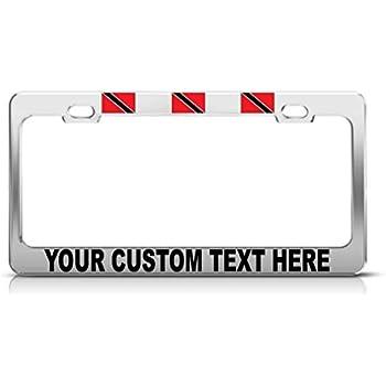 SENEGAL FLAG BLACK COUNTRY Metal License Plate Frame Tag Holder Two Holes