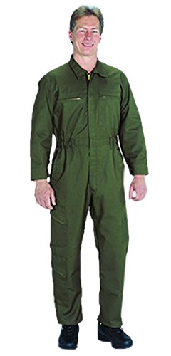TOPPS SAFETY CO43-1872-Short/38 CO43-1872 Poly/Cotton Tactical Wear Unlined Coverall, Short/Size 38, Olive