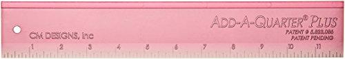 Plus Ruler (CM Designs CMD10012 Ruler Add-A-Quarter Plus Pink Pack, 12