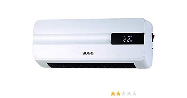 SOGO SS-18360 Calefactor Cerámico de Pared Split, 2000 Watts PTC ...