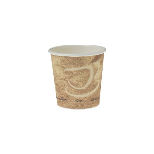 SOLO 374MS-0029 Single-Sided Poly Paper Hot Cup, 4 oz. Capacity, Mistique (Case of 1,000)