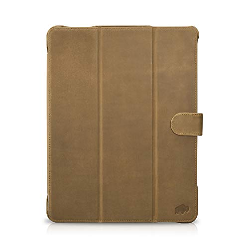 "Burkley Case Turner Premium Genuine Leather Smart Leather Folio Cover with Magnetic Flap Compatible with iPad Pro 12.9"" (4TH Gen 2020 Version) (Distressed Brown)"